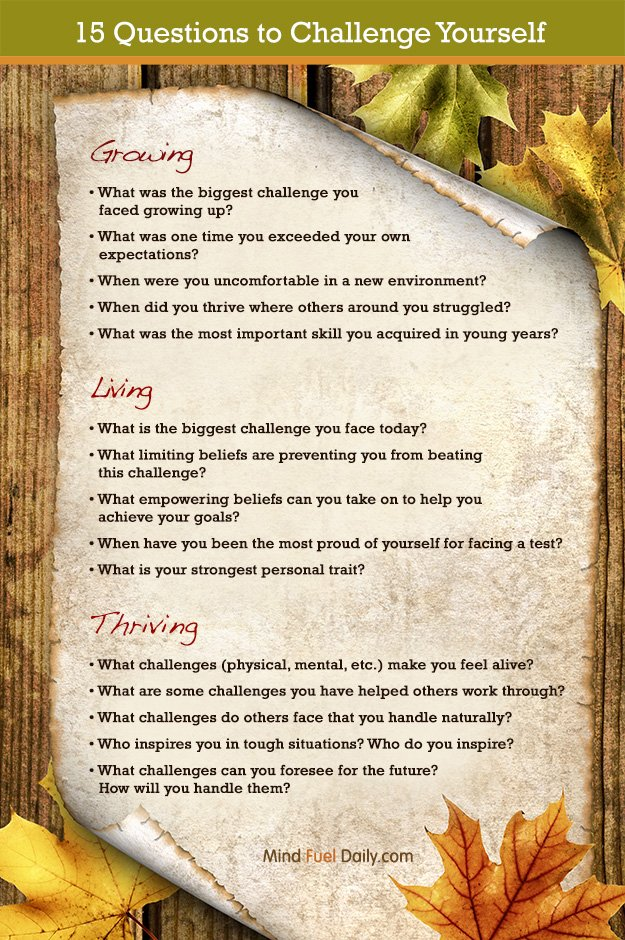15 Questions to Challenge Yourself